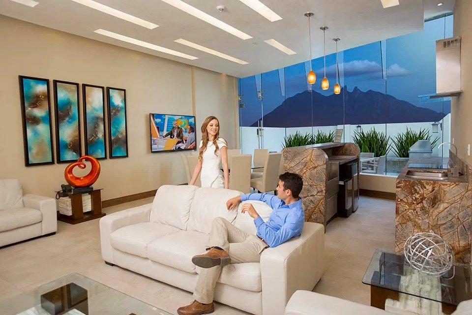Sala de Visitas con Terraza Metropolitan Center
